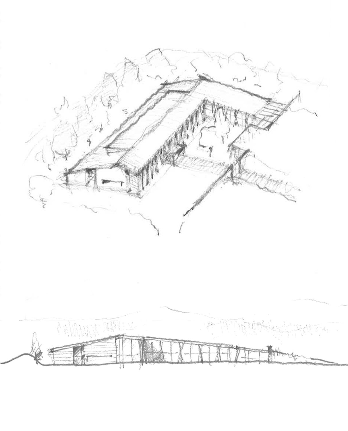 Early design sketches. Graham Baba Architects}