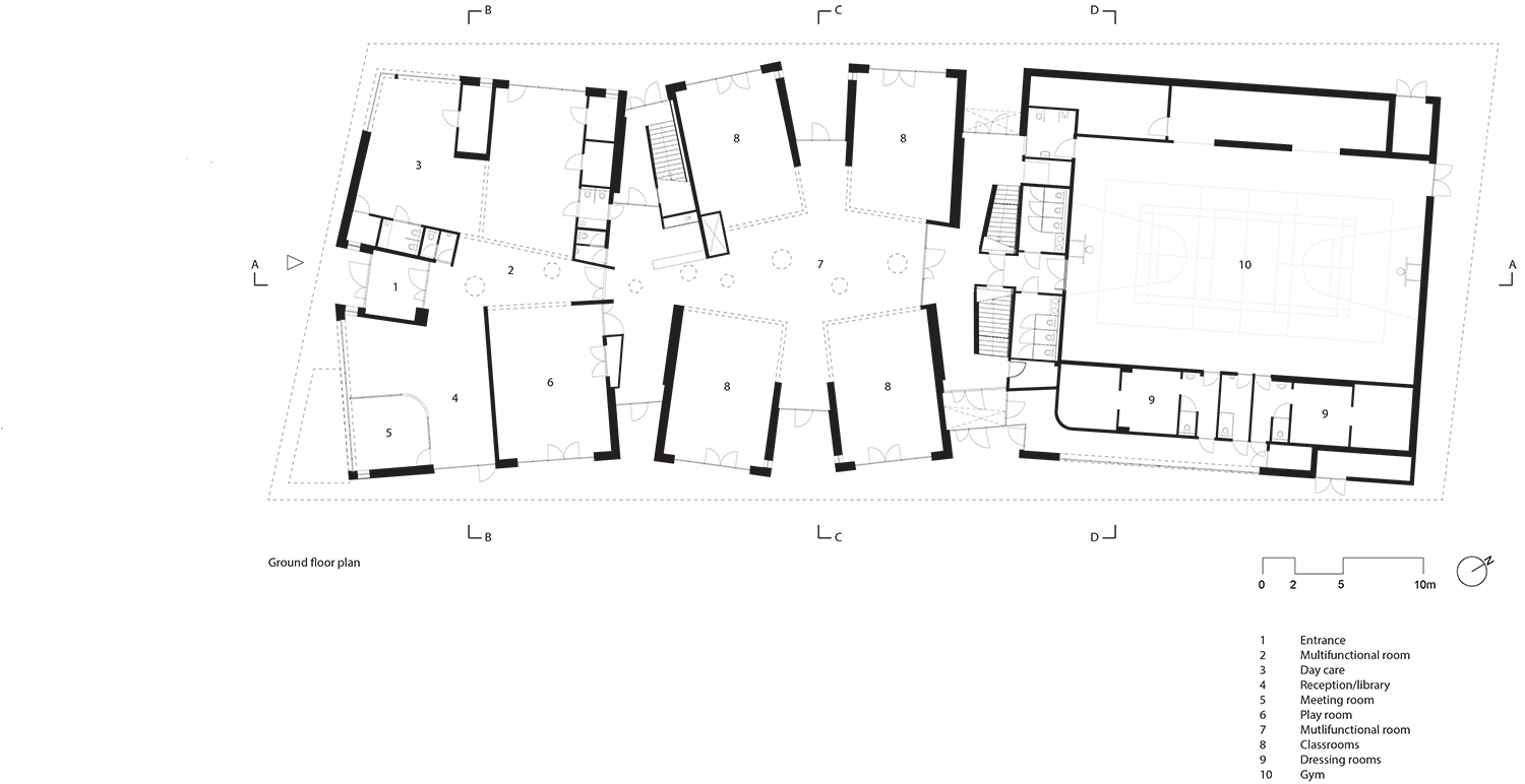 Groundfloor plan UArchitects}