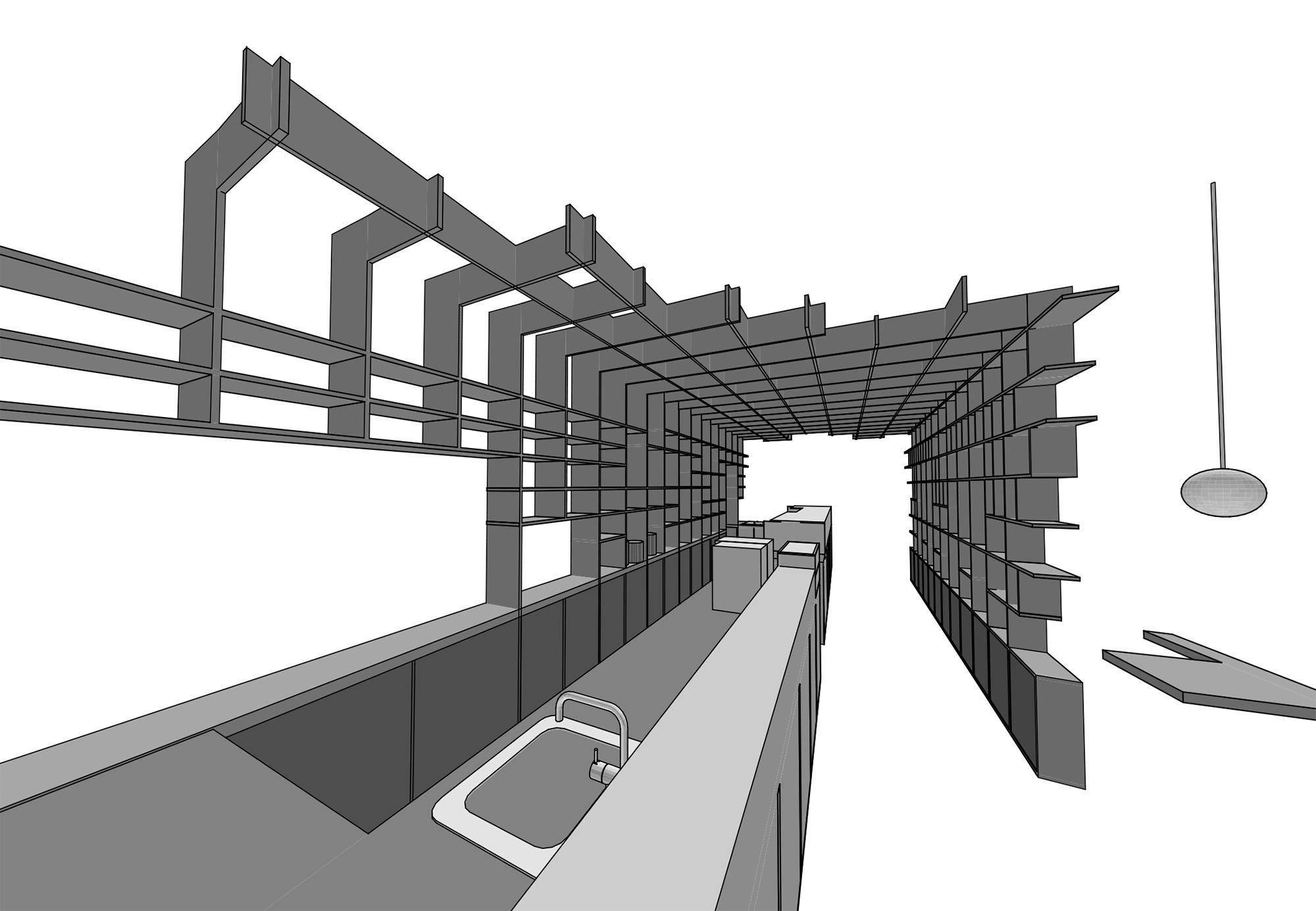 shelf as sculpture - 3d scheme }