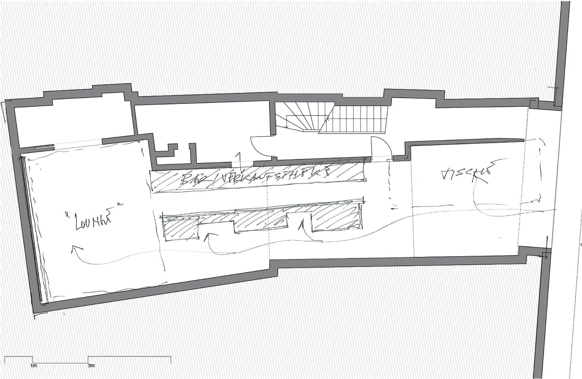 floor plan - concept sketch }