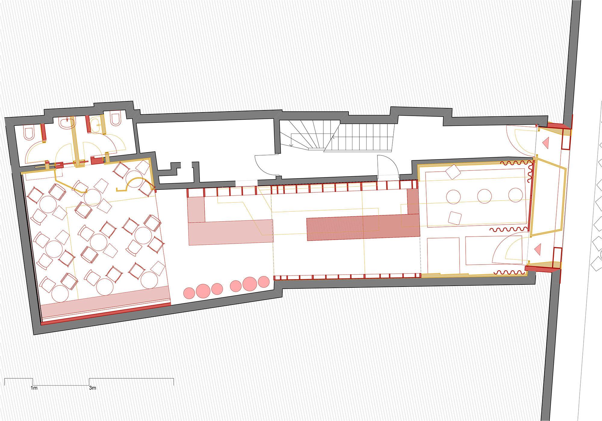 floor plan - demolition/new construction }