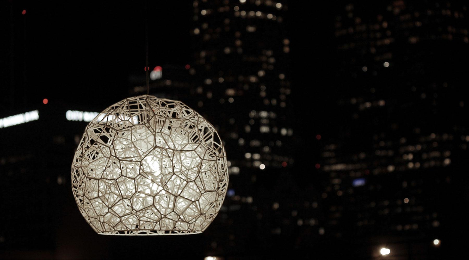 Burbuja Lamp (night)