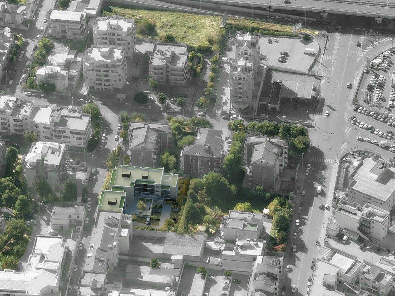 Vista aerea della piazza dei Giardini di Fedro