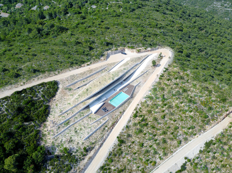 Aerial front view Miljenko Bernfest