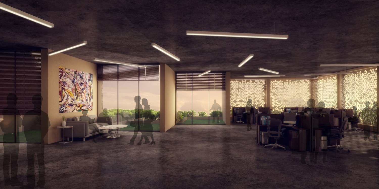 INTERIOR VIEW OF OFFICES SANJAY PURI ARCHITECTS