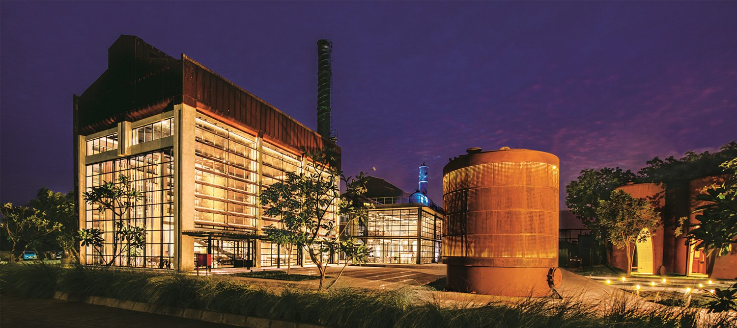 View of the Beacon Silo and Legacy Silos at night  Dilip Bhatia}