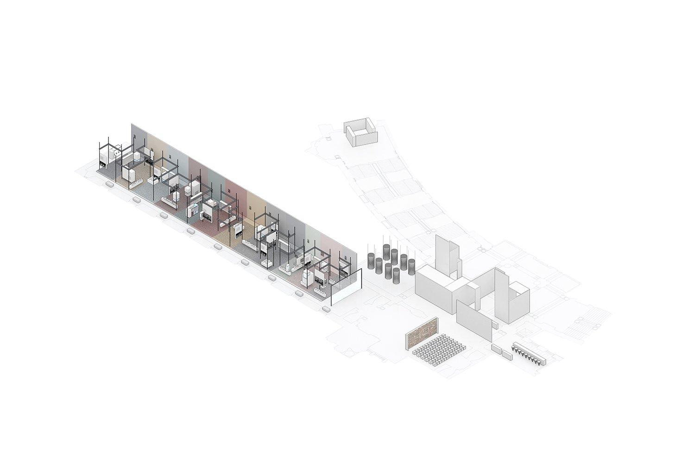 Axonometric_02 Main Room Schluderarchitektur with Tabanlioglu Architects}
