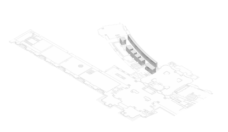Axonometric_01 Entrance  Schluderarchitektur with Tabanlioglu Architects}