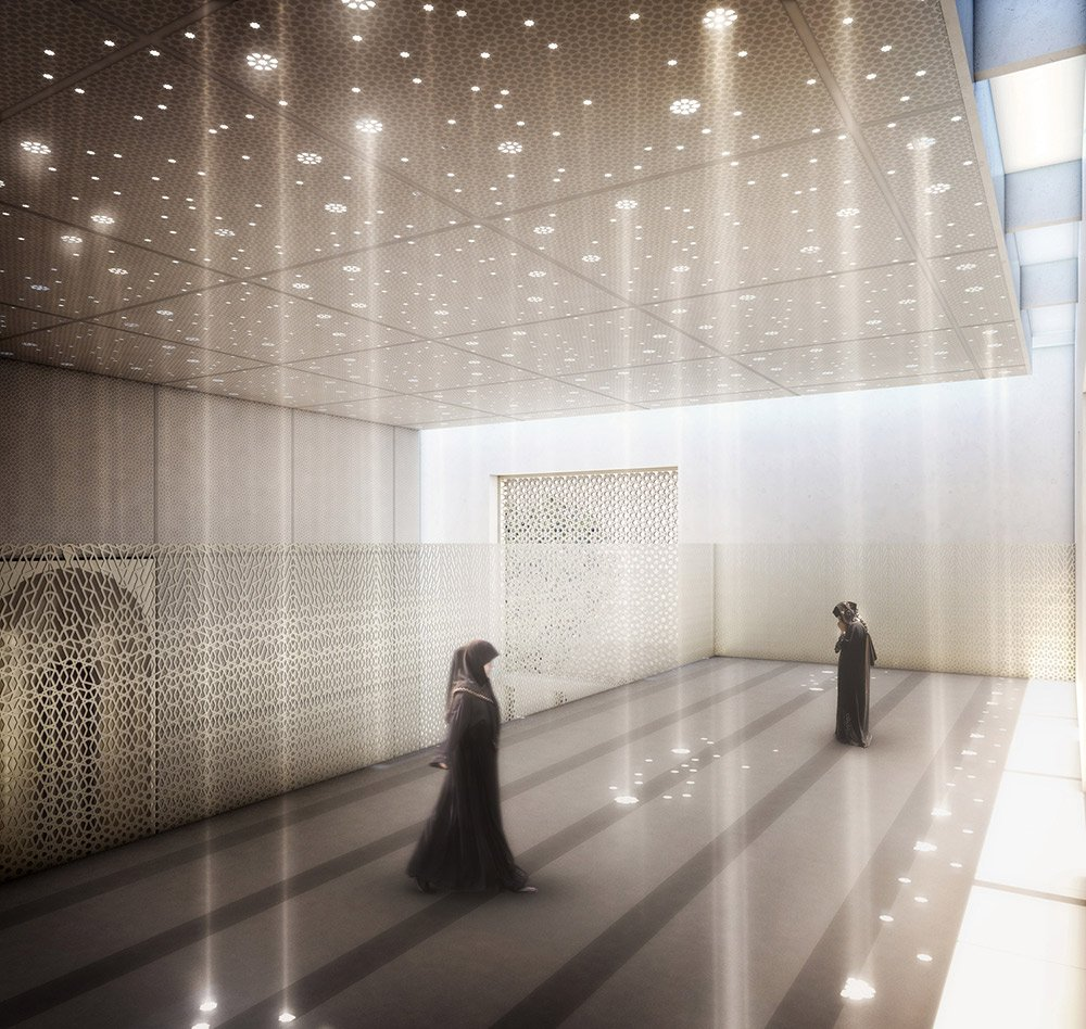 Jumaa Mosque Internal Visualisation©Hayes Davidson }