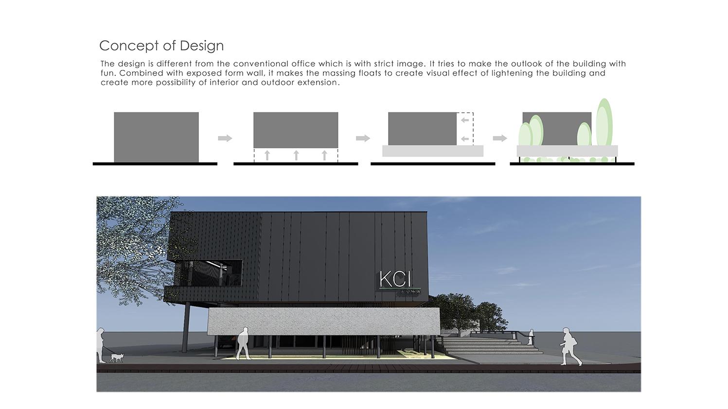 concept of floating concrete wall Chain10 Architecture & Interior Design Institute}