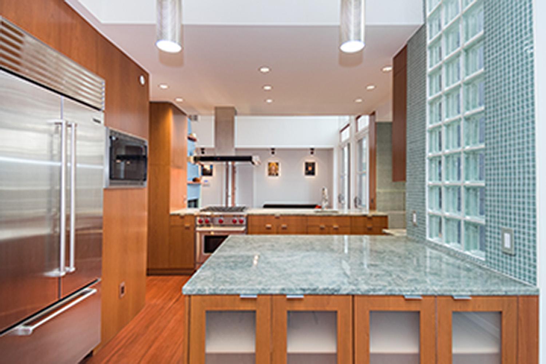 Kitchen-Countertop-GlassBlock Nichols Design Associates, Inc.