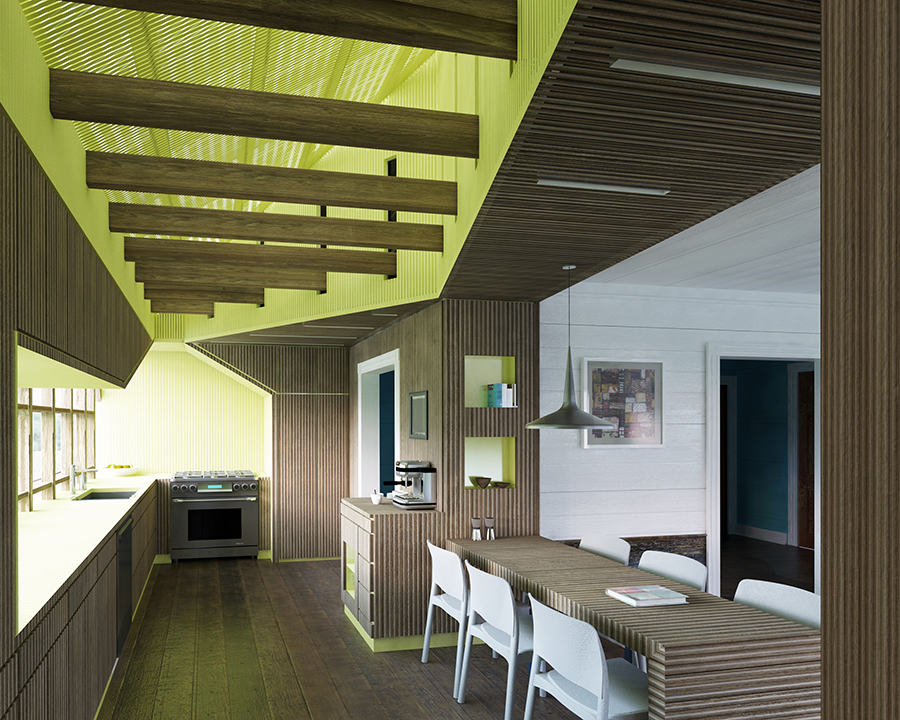 Kitchen view from Pantry mcdowellespinosa architects
