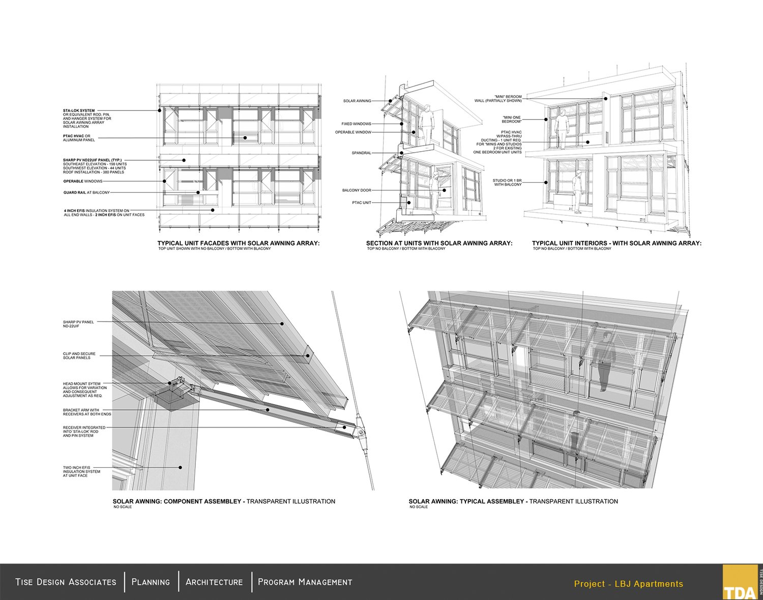 Solar Awning Array and Solar Component Assembly Tise Design Associates}