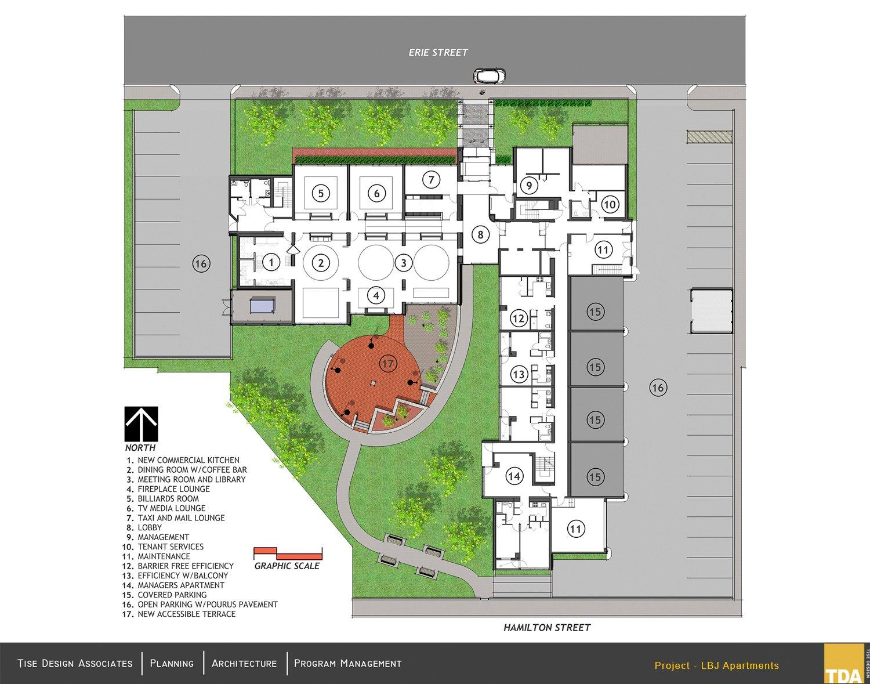 LBJ Apartments floor plan - redesign Tise Design Associates}