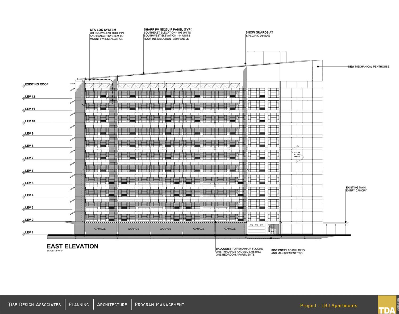 East Elevation Tise Design Associates}