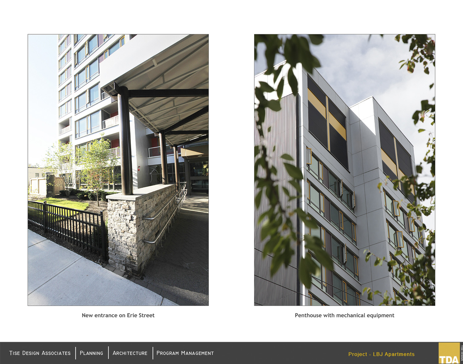 New Entrance on Erie Street and Penthouse with mechanical equipment Jim Raycroft Photography