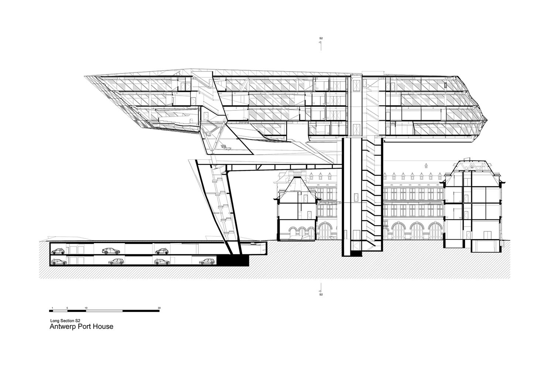 Long Section Zaha Hadid Architects}