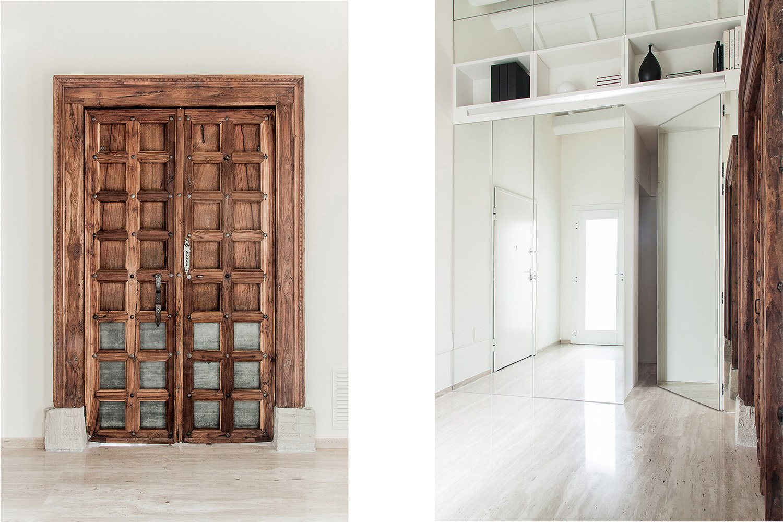 Portale e parete specchio chiusi