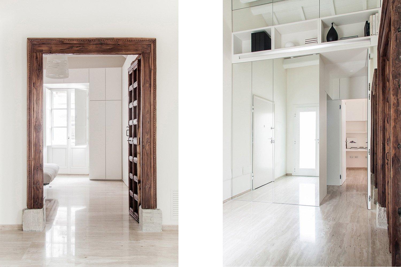 Portale e parete specchio aperti