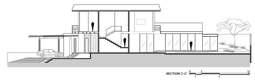 LPZ House - Section CC }