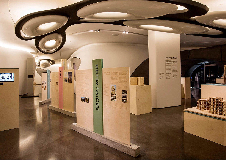 Lagos Wooden Tower - Timber Rising Exhibition - Roca London Gallery HKA | Hermann Kamte & Associates