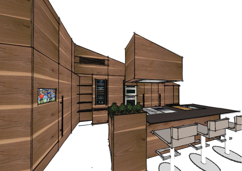 Vista prospettica studio Michele Mezzina Architetto