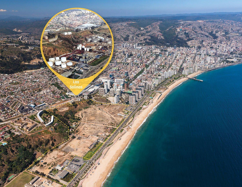 Vina del Mar, site condition with previous oil tank storage use