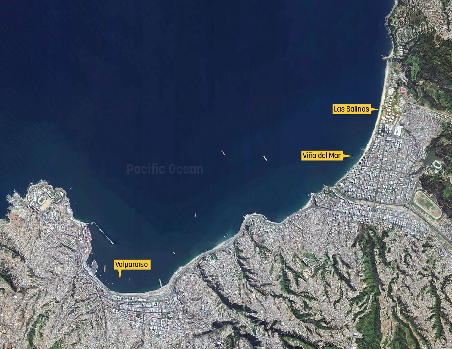 Project in the context of Vina del Mar and Valparaiso