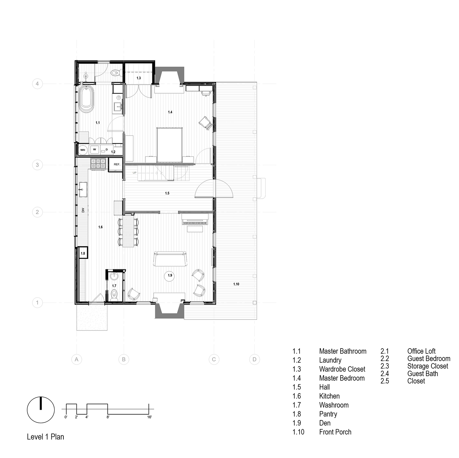 Kitchen Plan, Level 1 of Farmhouse renovation  mcdowellespinosa architects