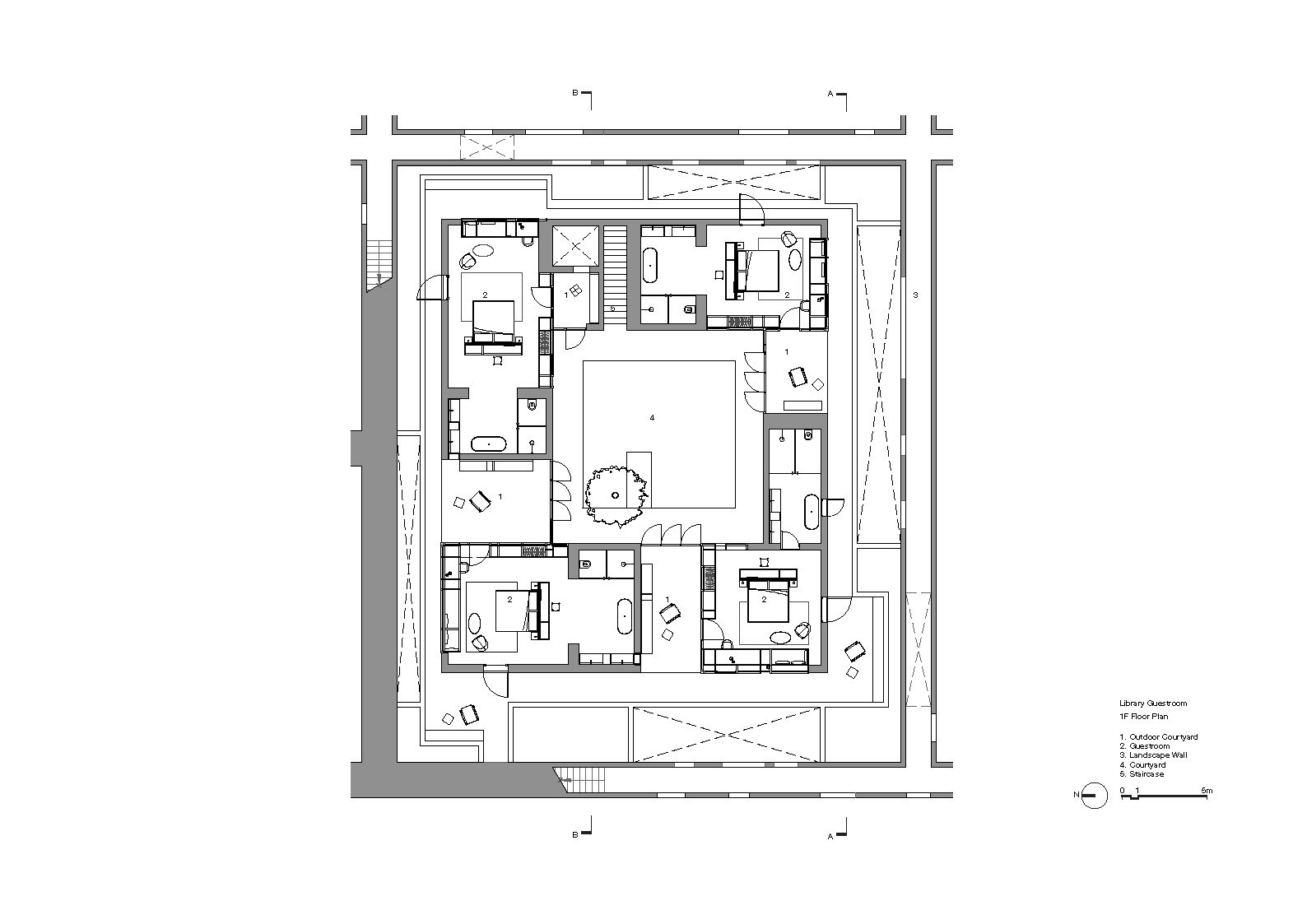 Library Guestroom Floor Plan 1F Neri&Hu Design and Research Office}