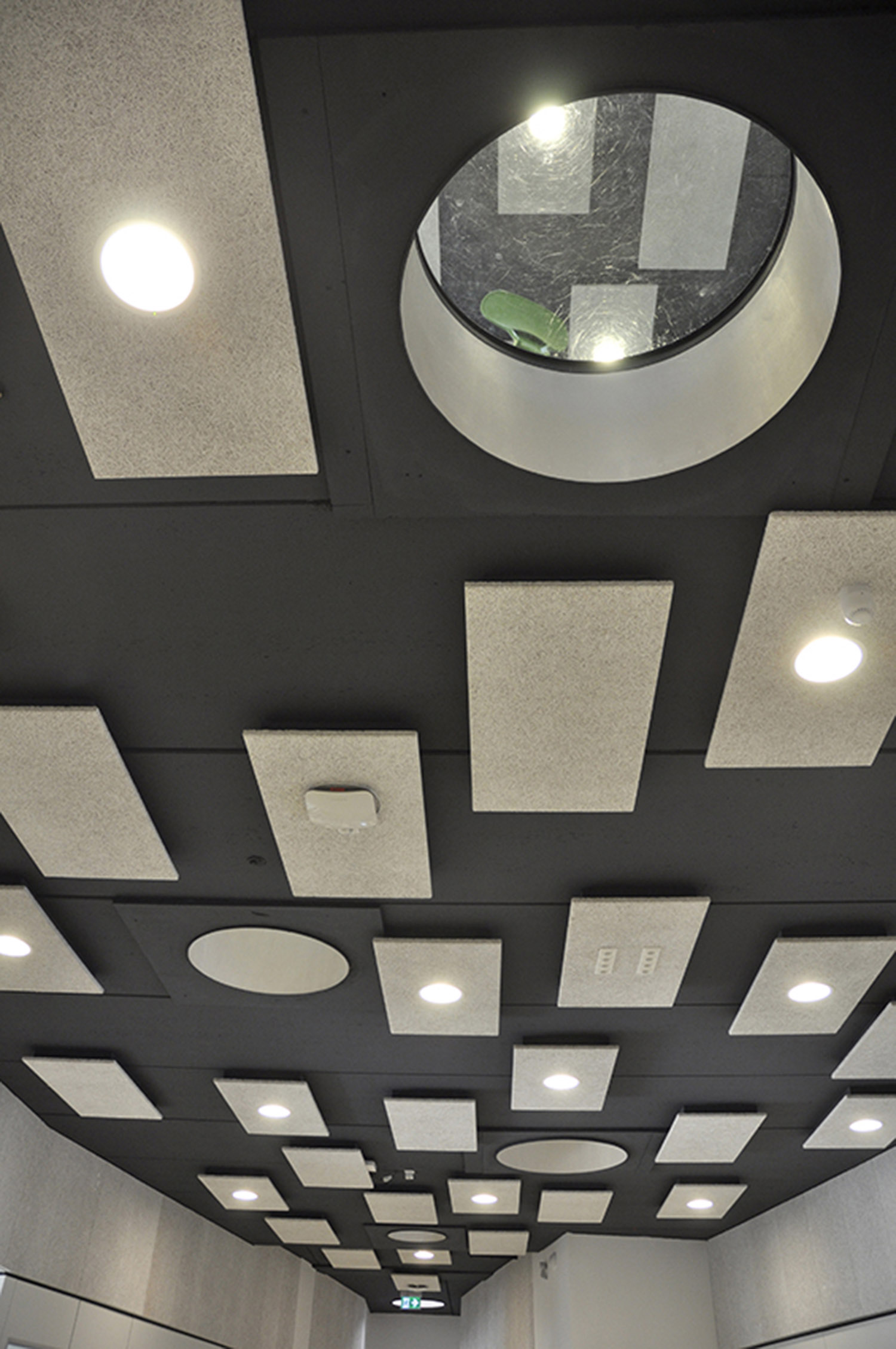 Ceiling plan with look through with glass panels  Daan Dijkmeijer and UArchitects