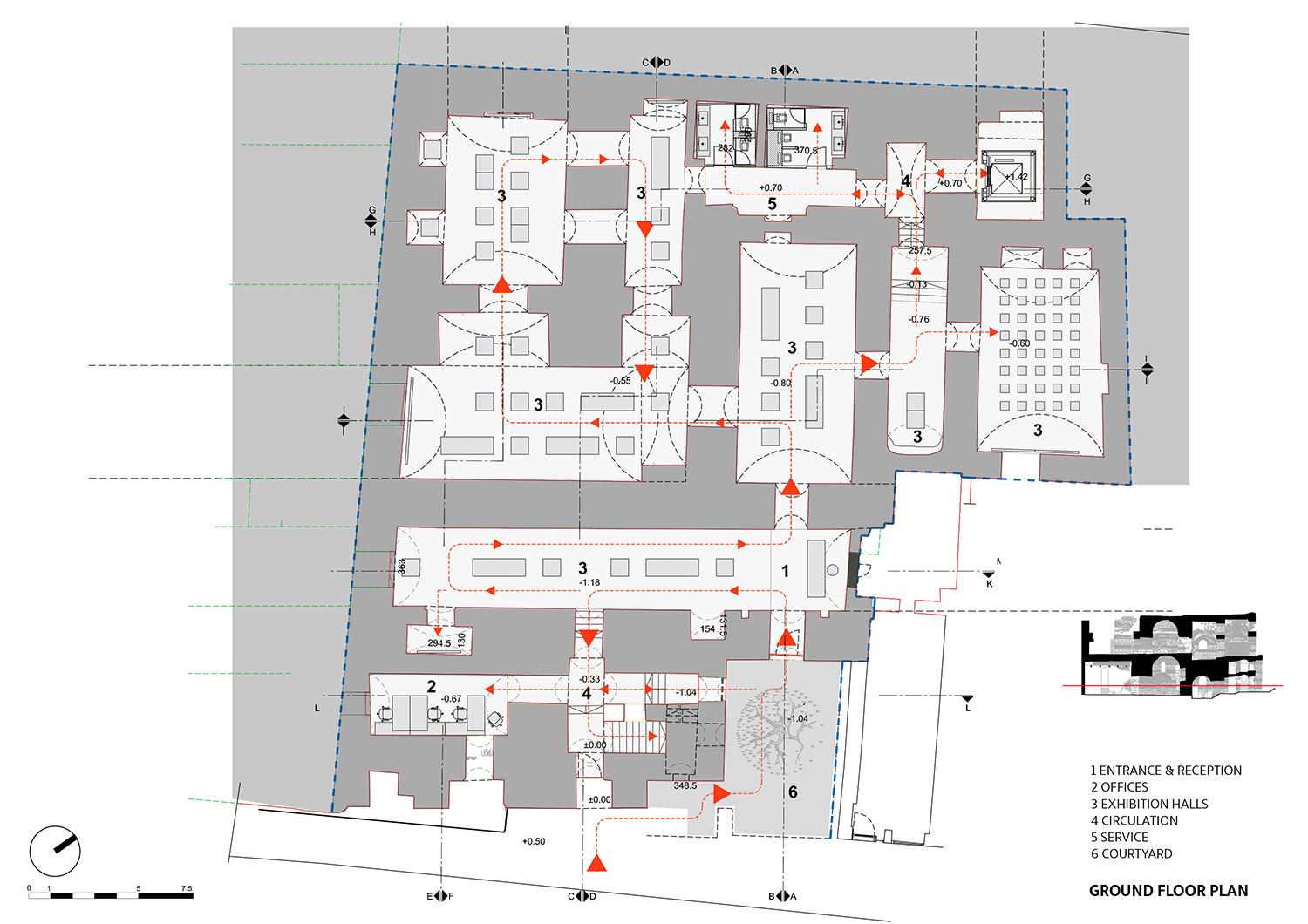 Ground Floor Plan TABANLIOGLU ARCHITECTS}