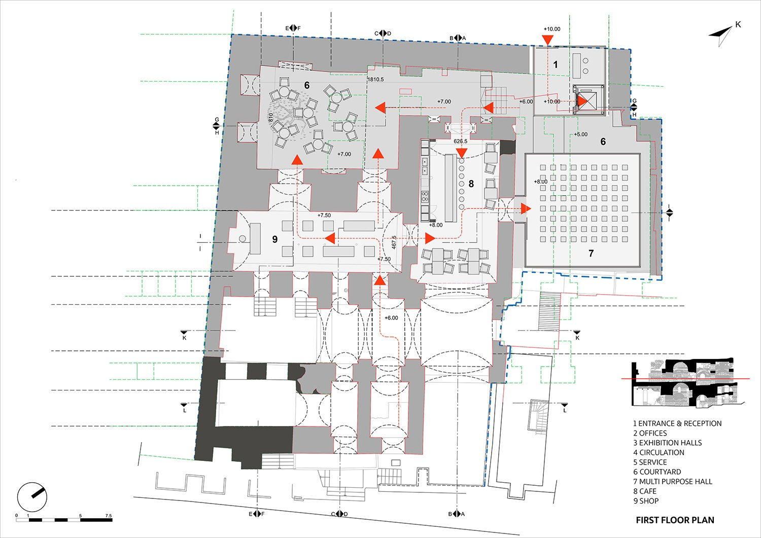 First Floor Plan TABANLIOGLU ARCHITECTS}