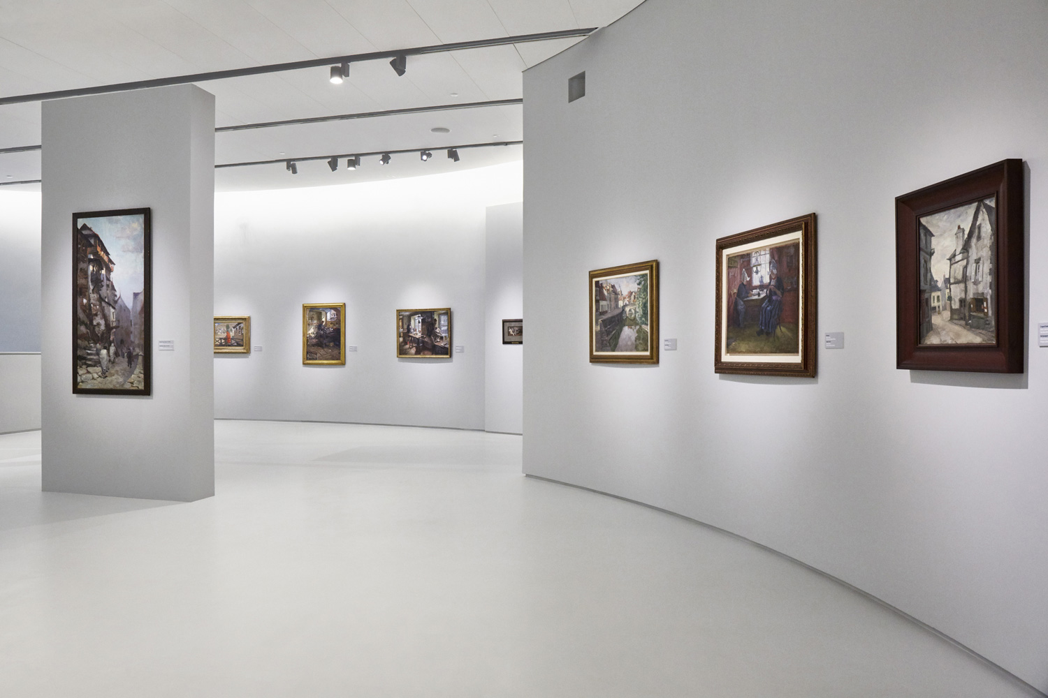 View of the gallery spaces within the Museum of Russian Impressionism