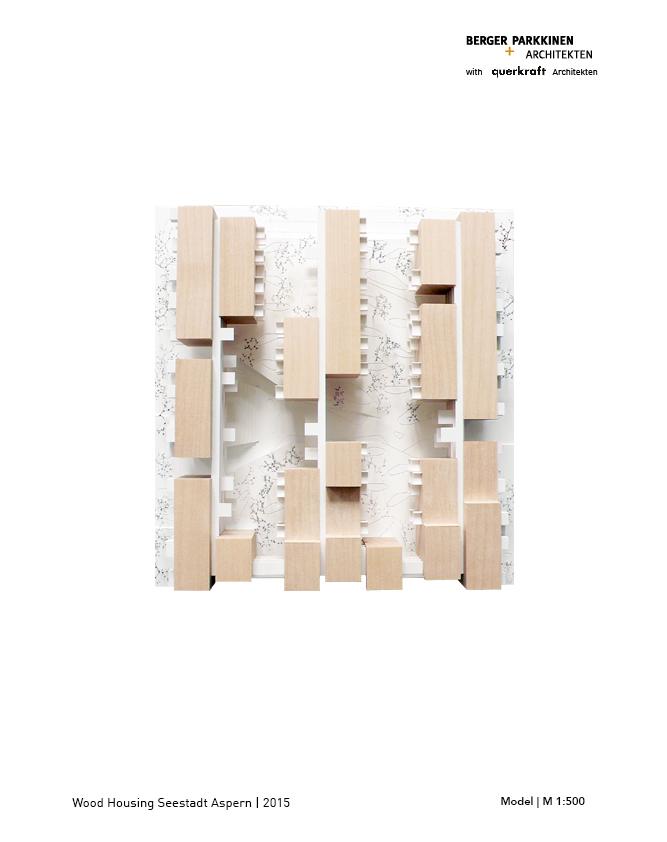 Wood Housing Seestadt Aspern, model © berger+parkkinen architekten | querkraft architekten}