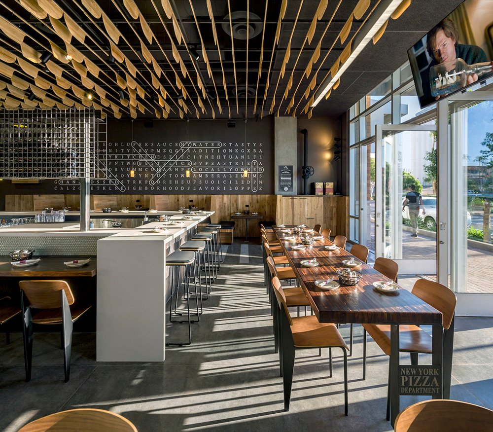 NYPD Tempe Gateway- Layers within the space establish distinct dining zones.