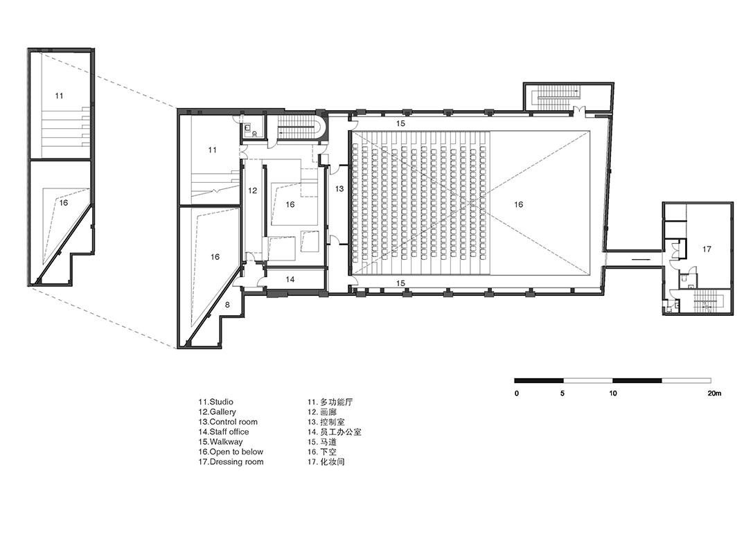 New Shanghai Theatre floor plans 2 }
