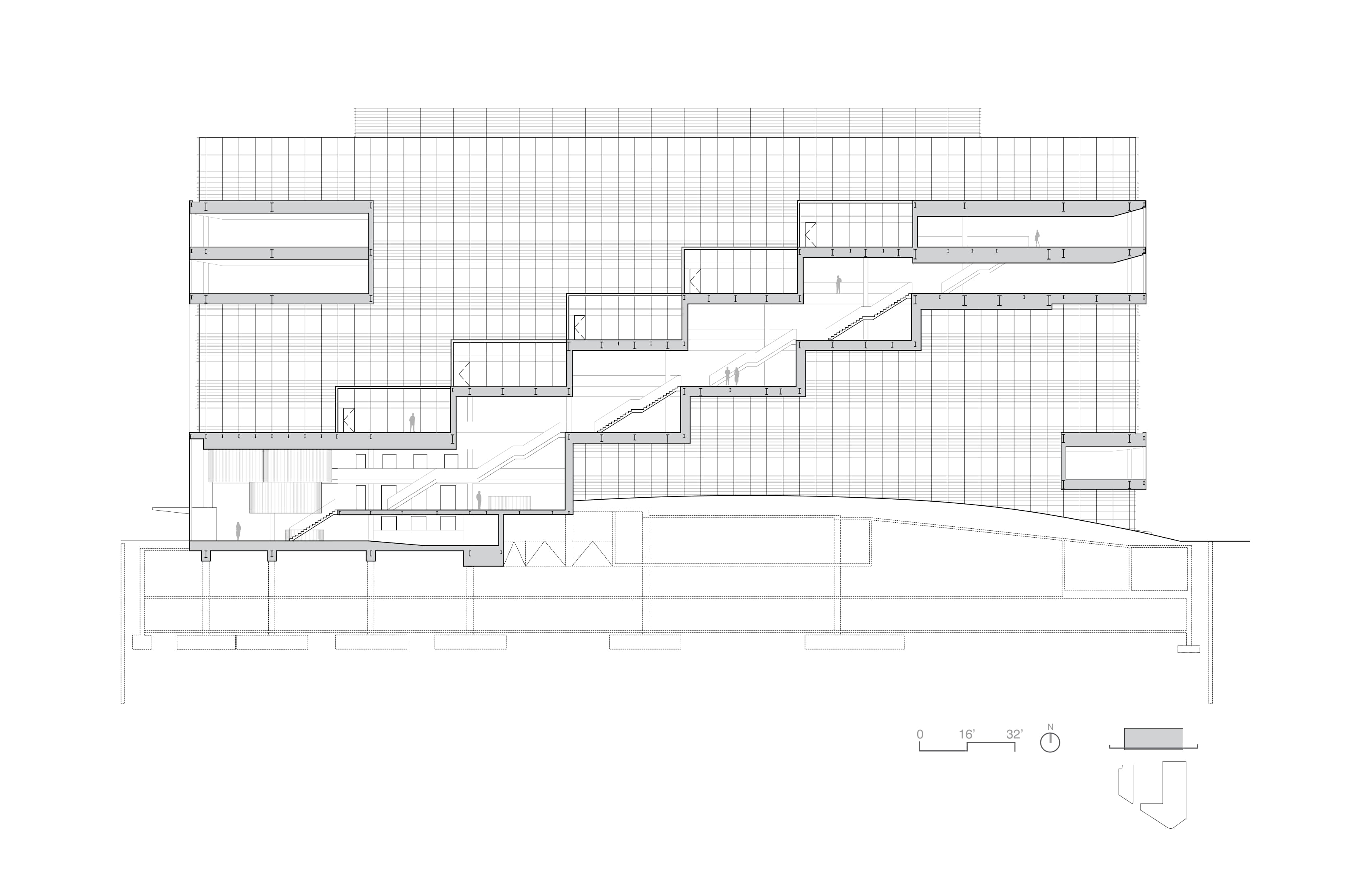 Cascading stair section  Toshiko Mori Architect}