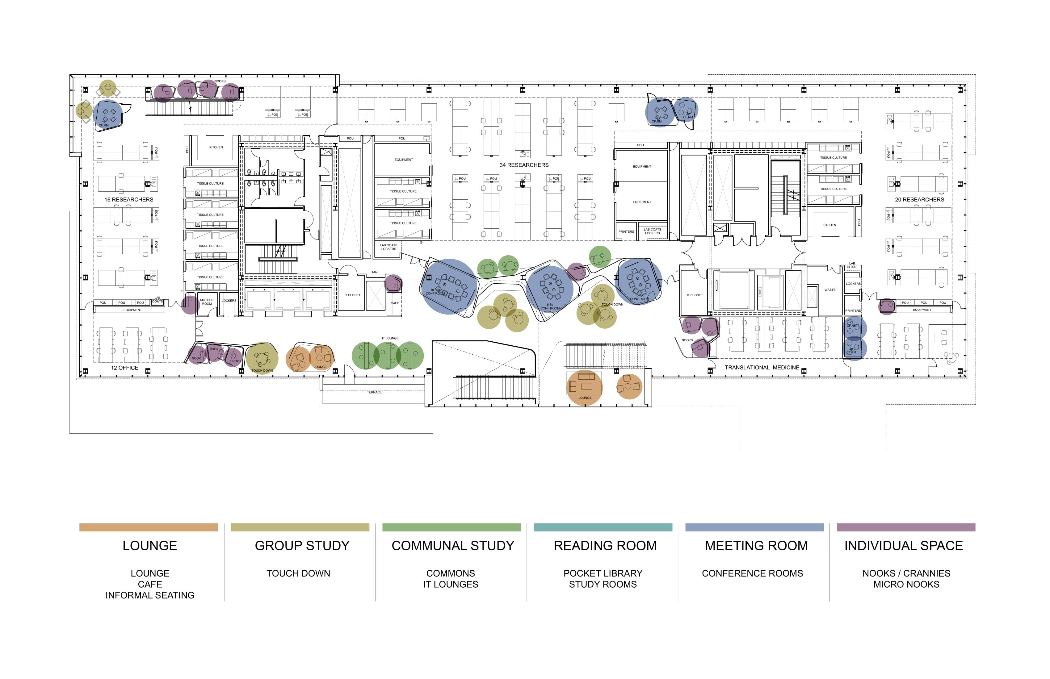 Break out areas (level 4) Toshiko Mori Architect}