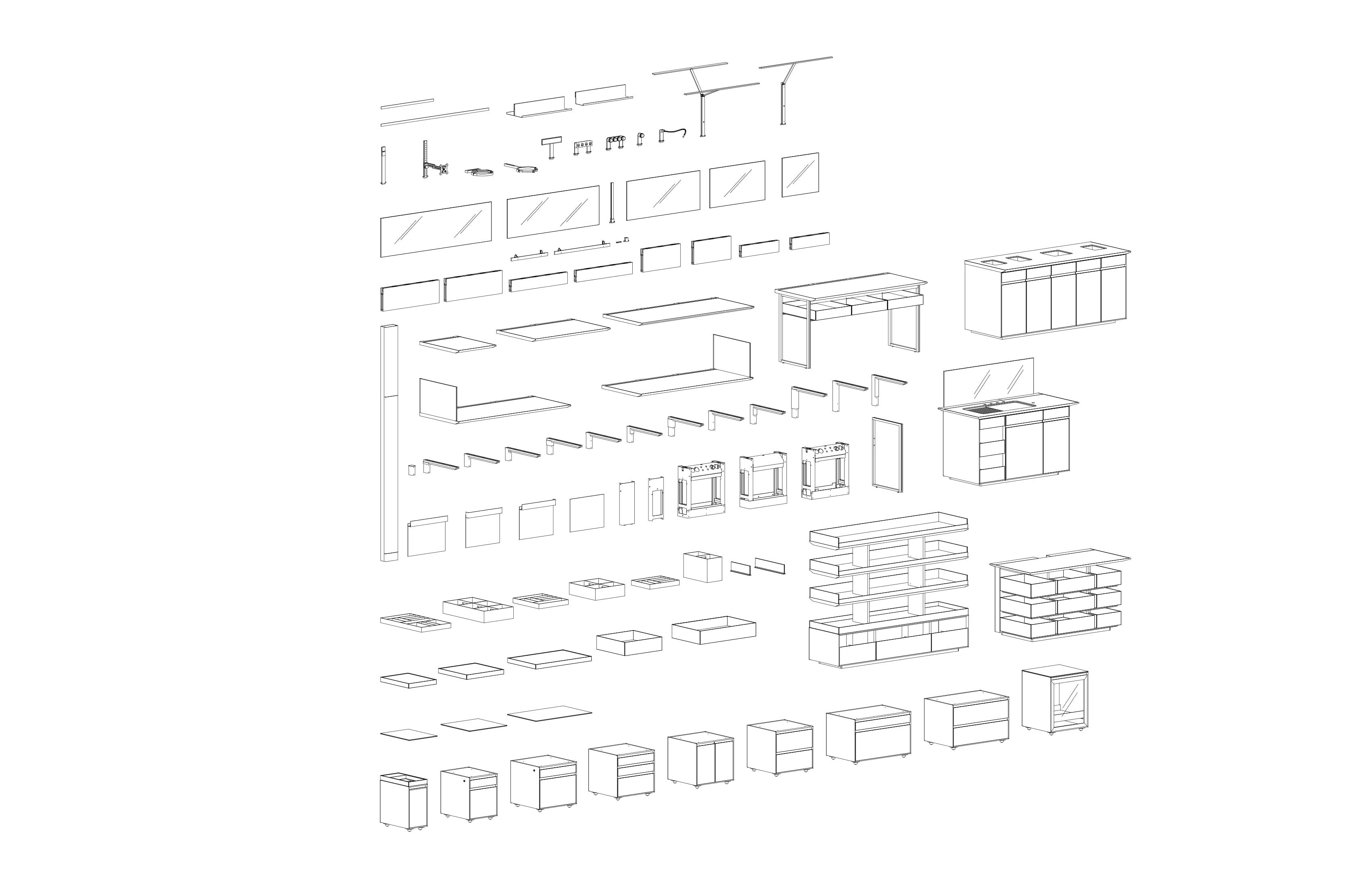 Furniture systems components Toshiko Mori Architect}