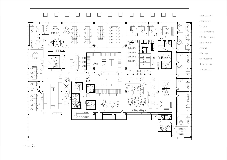 Main floor plan with room keys. }