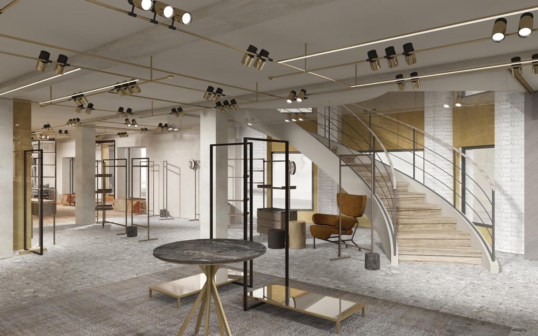 Entrance render view Duccio Grassi Architects}
