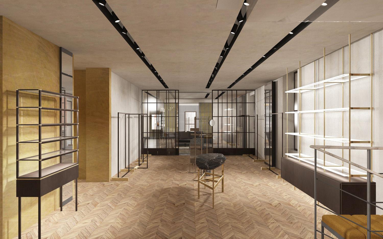 Accessoires area render view Duccio Grassi Architects}