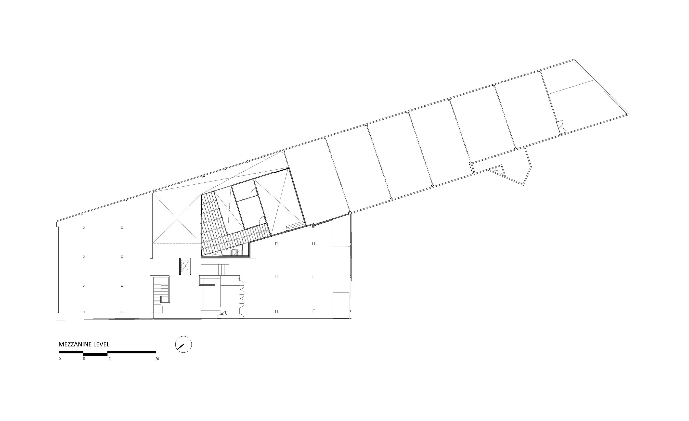 Mezzanine level  }