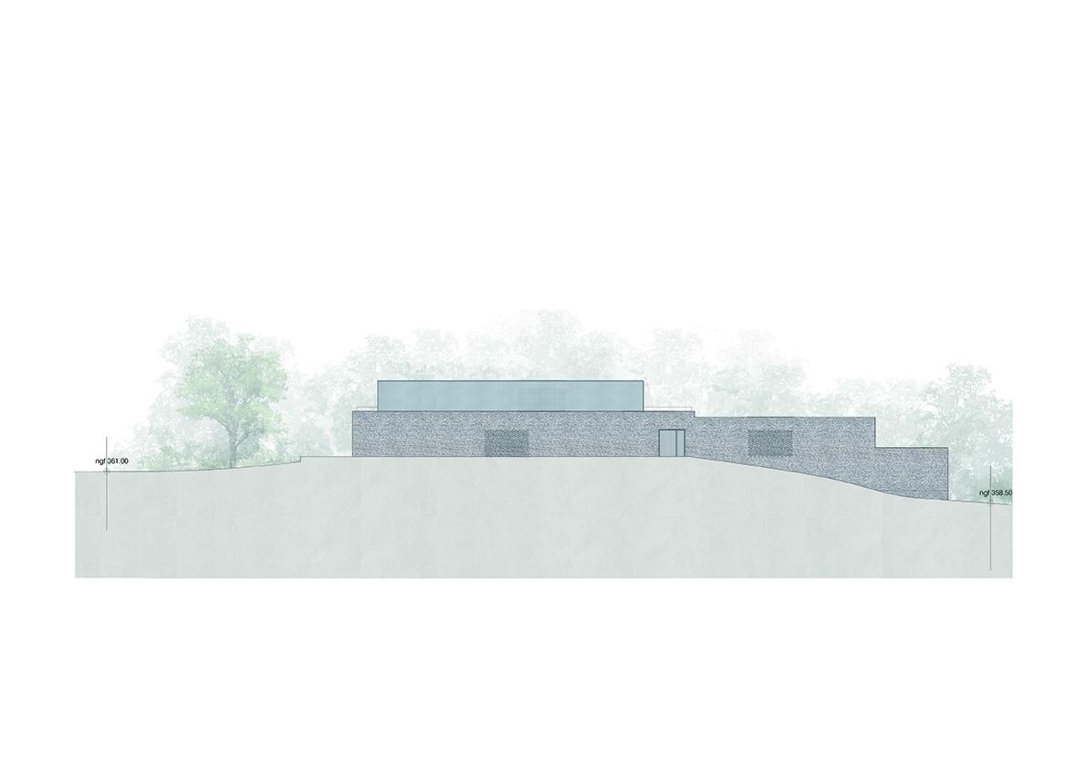 south facade }
