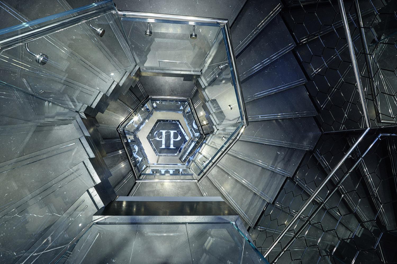 Philipp Plein London: staircase upper side view