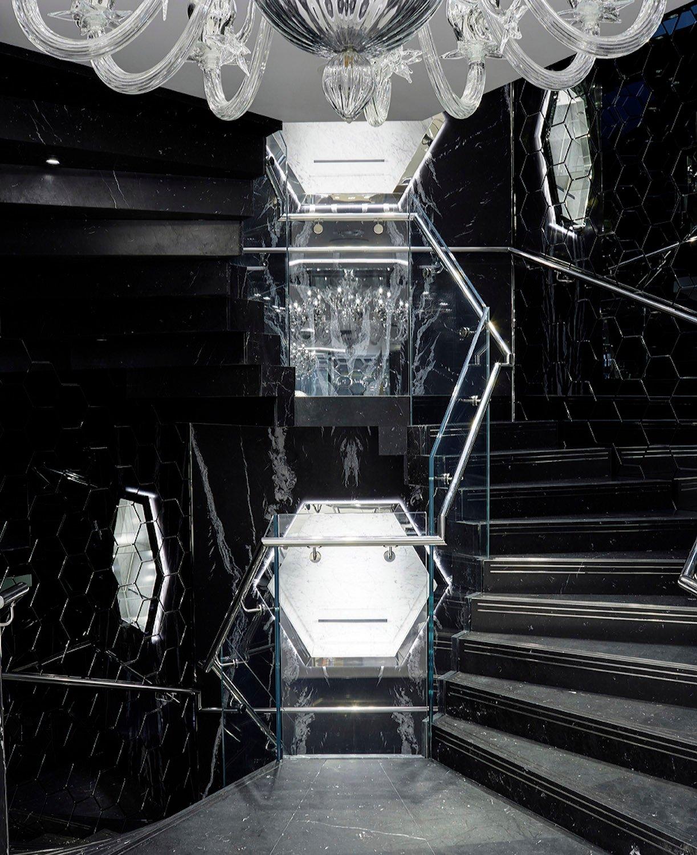 Philipp Plein London: staircase ground floor front view