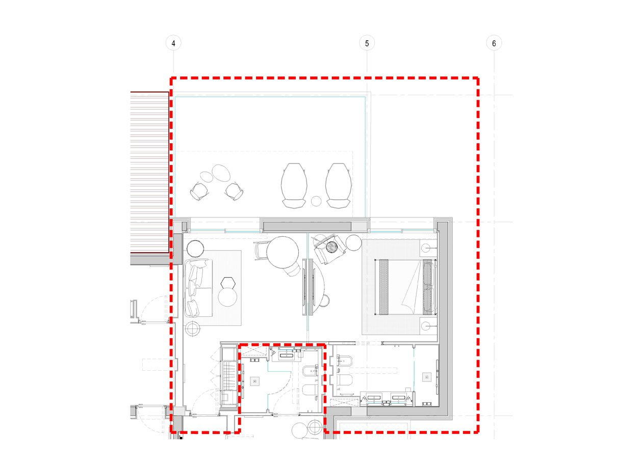 Pianta Suite Room  Studio KWG}