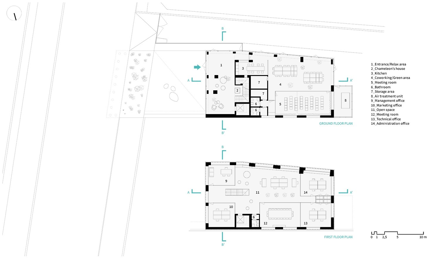 Ground Floor plan and First floor Plan LDA.iMdA architetti associati}