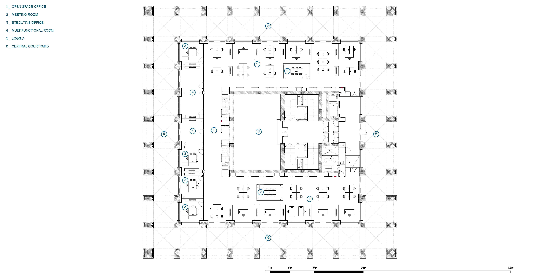sixth floor plan }